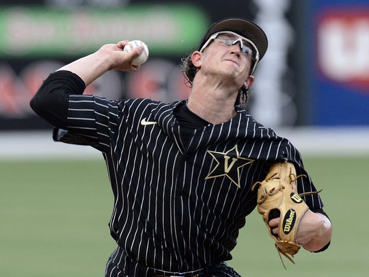 Pitcher Carson Fulmer was one of three Commodores selected in the first round of the MLB Draft on Monday.