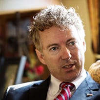 Republican candidate for president Sen. Rand Paul, R-Kentucky, in Essex on Monday.