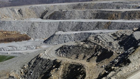 Part of the mining operation at the Thunder Ridge surface
