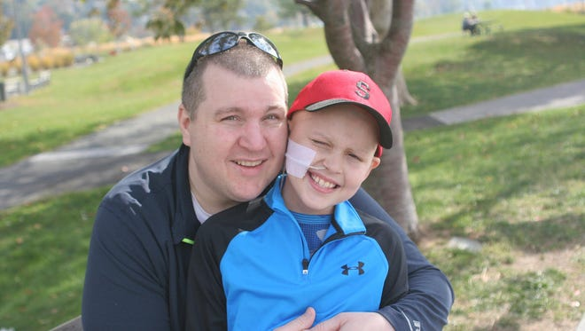 Jack Klein, seen here with his father, John, died Feb. 6 at Riley Hospital for Children at IU Health.