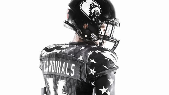 Adidas military appreciation uniforms for Louisville's football game against Wake Forest