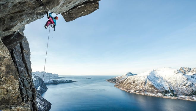 Ines Papert climbing on Senja Island in Norway will be part of the Banff Mountain Film Festival World Tour showing in Salem.