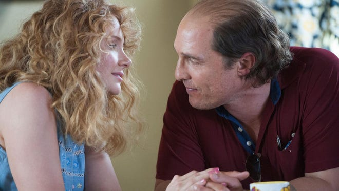 """Bryce Dallas Howard as Kay and Matthew McConaughey as Kenny Wells in """"Gold.""""  The movie opens Thursday at Regal West Manchester Stadium 13 and R/C Hanover Movies."""