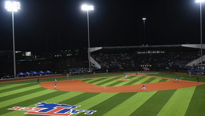 J.C. Love Field at Pat Patterson Park is pictured during last Friday's season opener against Arkansas-Pine Bluff.