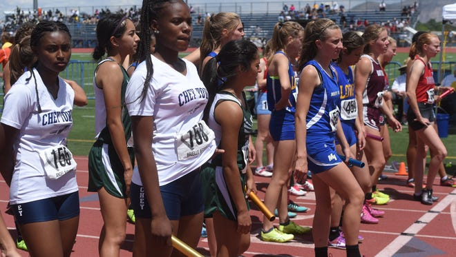 The NIAA Nevada State High School Track & Field Championships in Carson City on May 19, 2018.