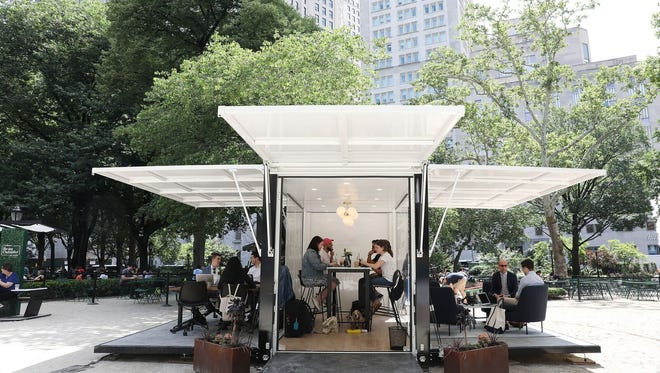 L.L. Bean, in partnership with Industrious, recently launched its outdoor working space.