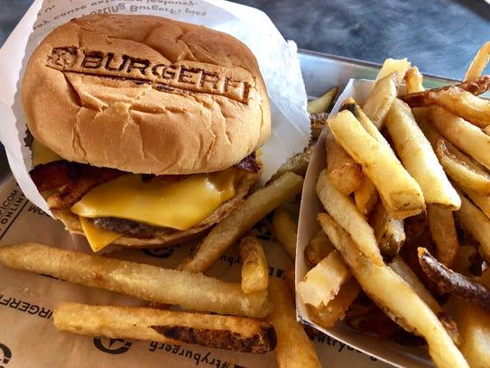 A double bacon cheeseburger from BurgerFi.