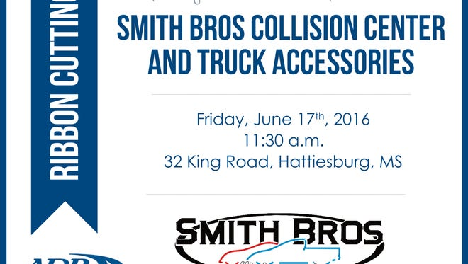 Smith Bros Collision Center & Truck Accessories will hold a ribbon cutting June 17.