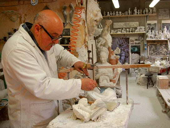 Artisans like this alabaster sculptor in Volterra,