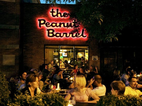 Exterior of the Peanut Barrel Bar in East Lansing.