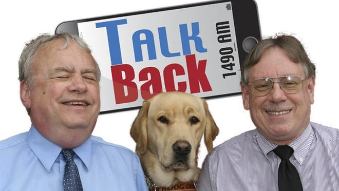 Talk Back with Doug Spade and Mike Clement print logo