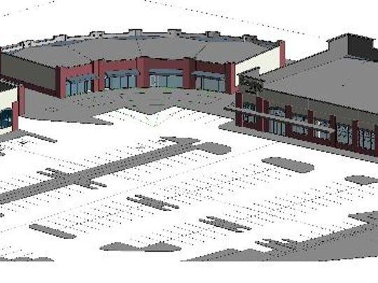 Architectural rendering of the Binghampton Gateway