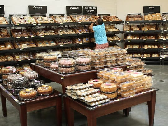 New signs and displays in the bakery department are