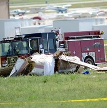 All five people on board a small aircraft died when it crashed near Denver on Sunday.