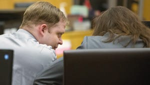 John Allen talks to his defense attorney, Gary Beren, before being sentenced to death in Maricopa County Superior Court on Nov. 16, 2017. Allen was sentenced to death for the 2011 murder of 10-year-old Ame Deal.