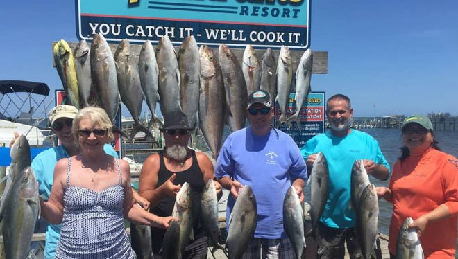 This party had a great day fishing last weekend aboard Big Easy with Capt. Terry Wildey out of Capt Hiram's Resort and Marina in Sebastian.