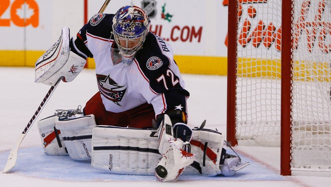Columbus Blue Jackets goaltender Sergei Bobrovsky will be out four to five weeks.