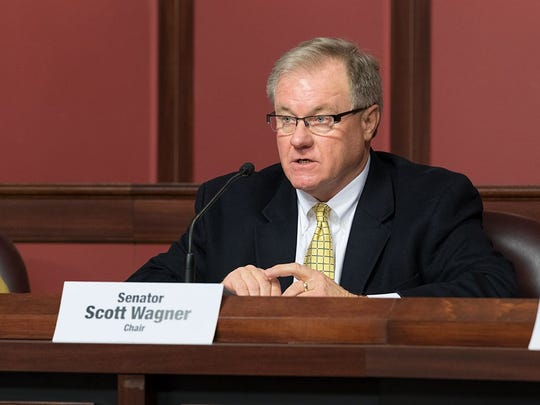 Pennsylvania state Senator Scott Wagner is running to replace fellow Yorker and Democratic Gov. Tom Wolf