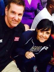Coach Garry Broadhead and wife, Andrea