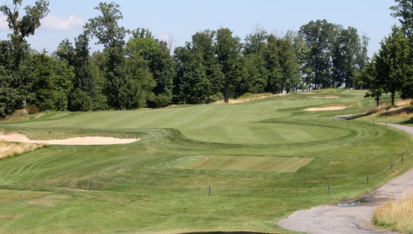 The 18th hole at Hudson Hills Golf Course in  Ossining