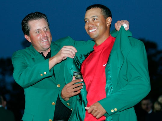 tiger woods phil mickelson 2005 masters