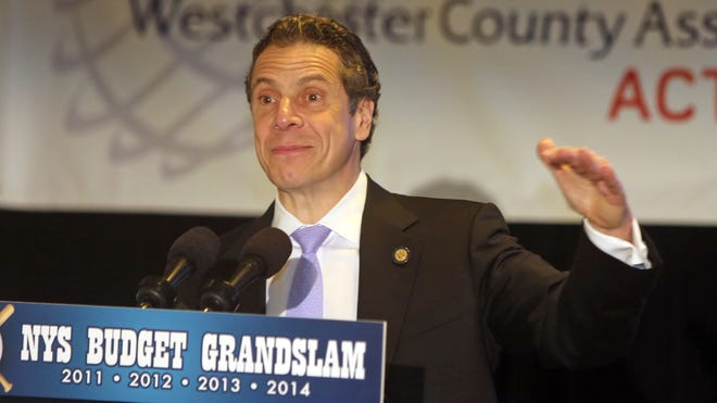 New York State Gov. Andrew Cuomo speaks to the Westchester County Association at the Westchester Marriott Hotel in Tarrytown April 9, 2014. Cuomo was speaking about the 2014-15 state budget and economic issues.