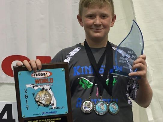 Kingston Elementary shooter Weston Wray finished second