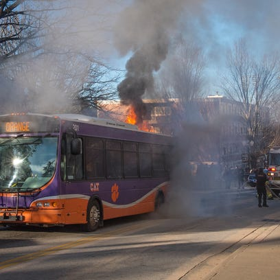 12-year-old CATbus engine catches on fire at Clemson University months before retirement
