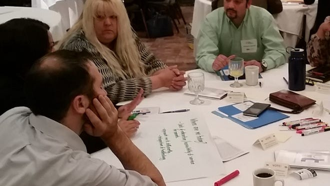 Members of more than 20 agencies gathered Thursday to identify ways to improve coverage and access to services at Ngage New Mexico's Early Childhood Education Convening at the Ramada Palms.