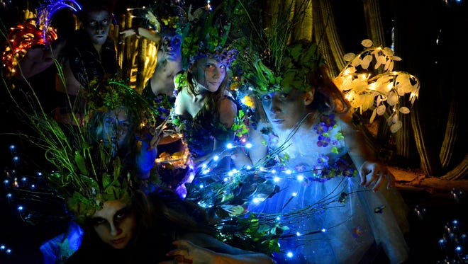 """Southwest Shakespeare Company production """"FairyWorlds!,"""" an adaptation of """"A Midsummer Night's Dream"""" inspired by Cirque du Soleil and the Sonoran Desert to be performed on a double-size stage outdoors at the Desert Botanical Garden."""