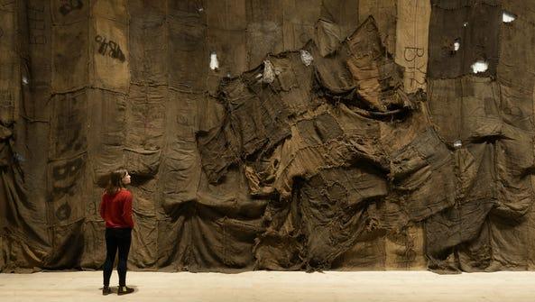 Ibrahim Mahama, Untitled, 2013. Installation view at