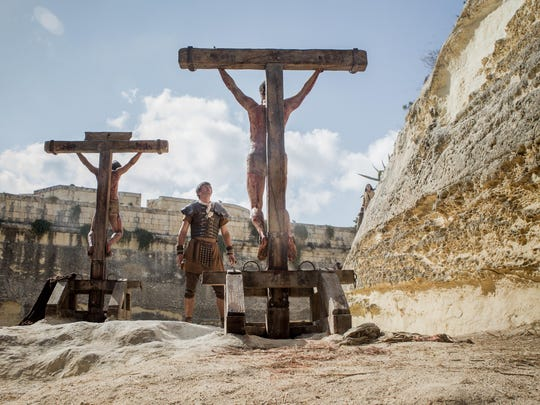 """Jesus crucified along with other convicted criminals in """"Risen."""""""