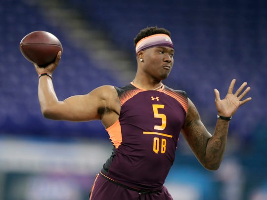 Former Ohio State quarterback Dwayne Haskins has been viewed as a possible alternative to Kyler Murray in the first round.