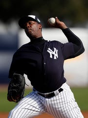 Aroldis Chapman will miss 30 games because of a suspension.