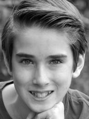 """Grayson Molin, a home-schooled seventh grader, played Jonas in the IRT's stage production of """"The Giver."""""""