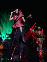 Singer Judith Hill opened the show last night at the Fox Theatre and joined in during a few songs of Prince's set.