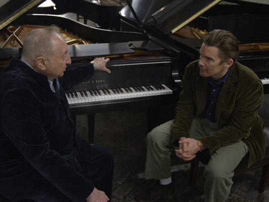"Seymour Bernstein and Ethan Hawke in Hawke's ""Seymour:"