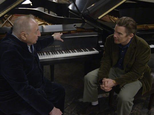 "Seymour Bernstein and Ethan Hawke in Hawke's ""Seymour: An Introduction."""
