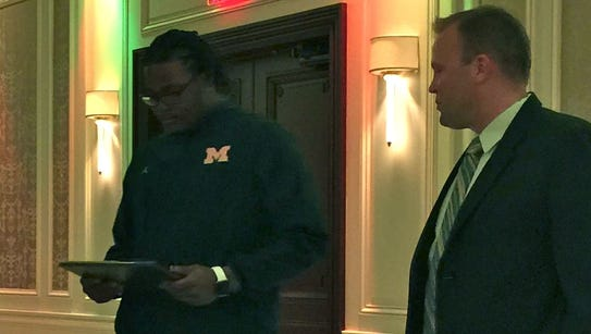 Current Michigan freshman DE Rashan Gary stopped by