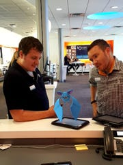 Killing time with #PokemonGO at the AT&T store on Bayou