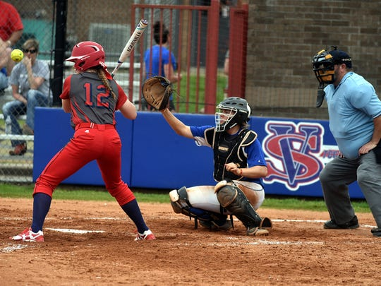 Vol State freshman Jaylin Mabry, a left-handed thrower, has caught a few games for the Lady Pioneers this season.