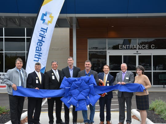 Ahead of a ceremonial ribbon-cutting, TriHealth President and CEO Mark C. Clement announced completion of its new outpatient surgery center at its TriHealth Physician Partners | Group Health location on Five Mile Road in Anderson Township.