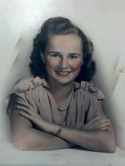 Helen Louise Barnes Harney, mother of FLORIDA TODAY journalist Britt Kennerly, is pictured in the late 1940s. Helen, who had vascular dementia, died May 12 - a day before Mother's Day.