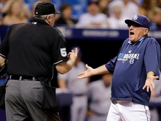 Rays Maddon Leaves Baseball