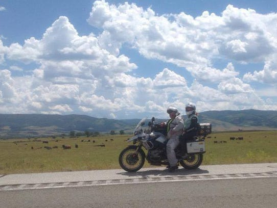 Lisa Hecker on a two week ride from Maryland to Colorado