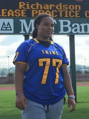 Bree Smith-Cheeks is a junior defensive lineman on the Wi-Hi football team.