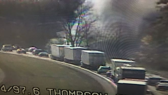 One person was killed in a semi crash on I-74.