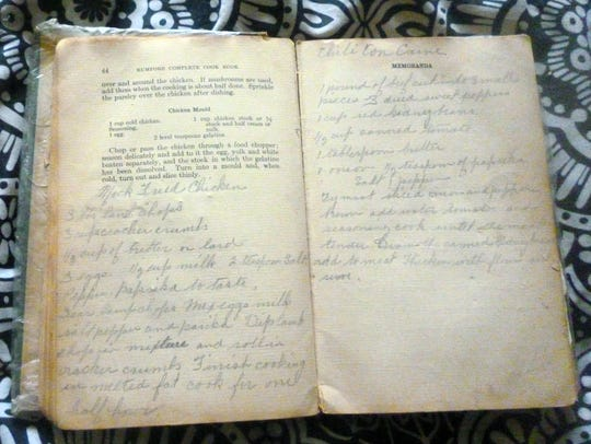 This unknown whereabouts of this old recipe book created