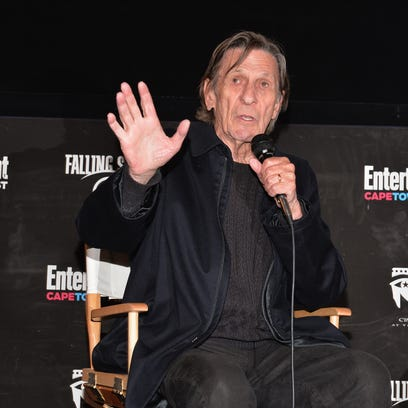 Leonard Nimoy, seen here in May 2013, died Friday at