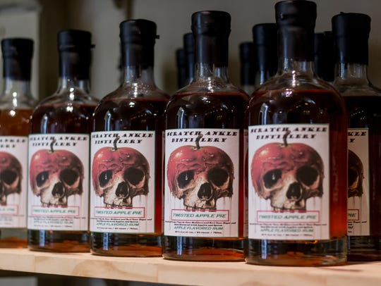 Liquors available at Scratch Ankle Distillery in Milton
